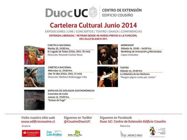 Cartelera 9-15 junio DUOC UC