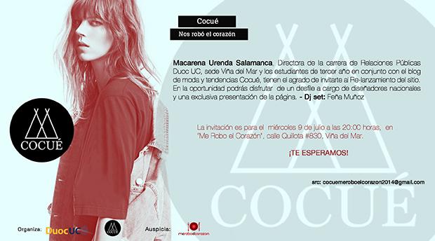 Invitacion relanzamiento Cocue