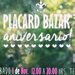 Miniatura Aniversario Placard Bazar