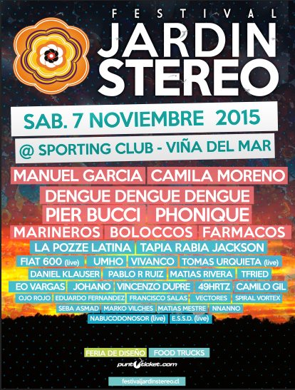 Revisa el cartel completo para jardin stereo 2015 for Jardin stereo 2015 line up