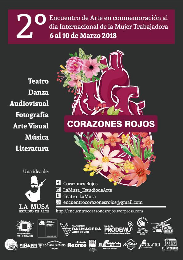 AFICHE-Corazones Rojos